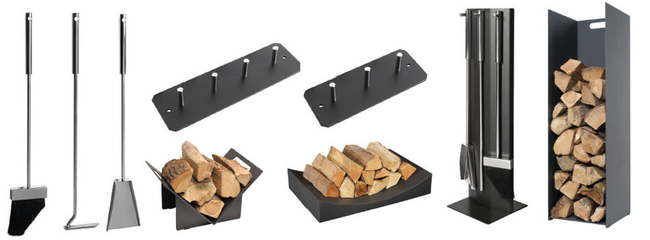 Contemporary Steel Log Holders
