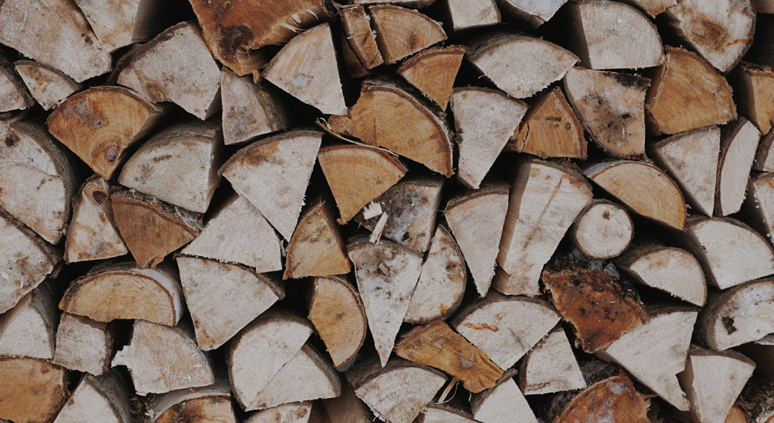 Burning dry wood this winter